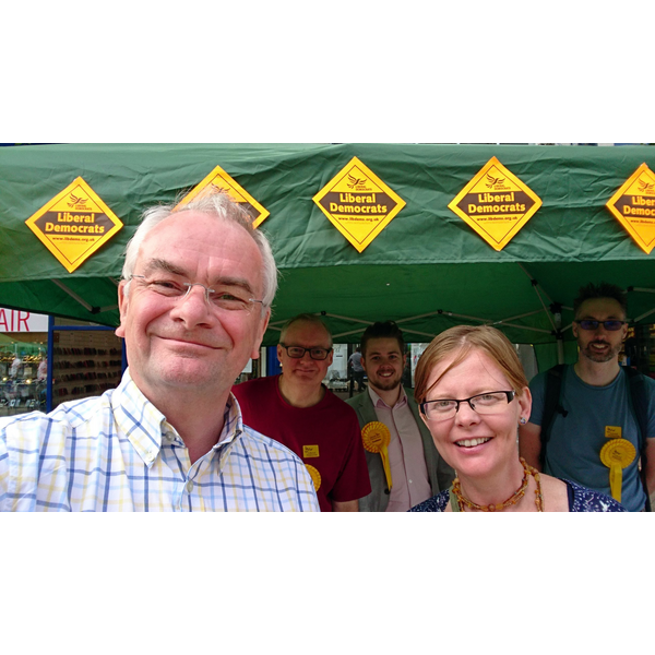 Jeremy Hilton & Rebecca Trimnell with team at Gloucester Day 2018