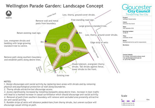 The plans for Wellington Parade garden
