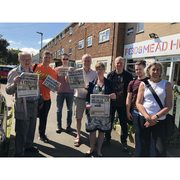 Rebecca Trimnell and the team campaigning in Podsmead
