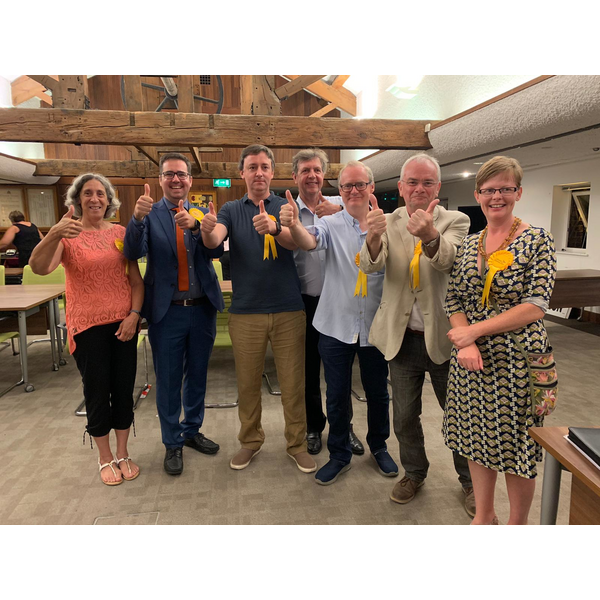 Celebrating Barnwood and Podsmead by-election wins