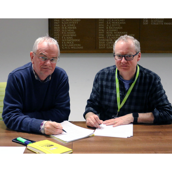 Jeremy Hilton and Declan Wilson prepare budget amendments 2020