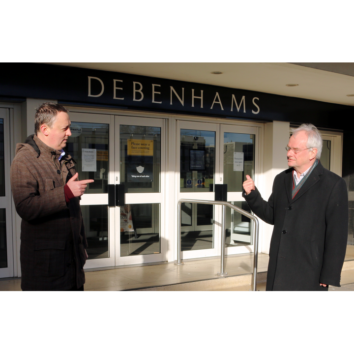 Ashley Bowkett and Jeremy Hilton discuss Debenhams future