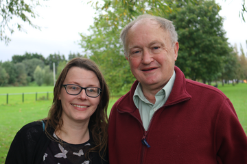 Anne Radley and Councillor Howard Hyman